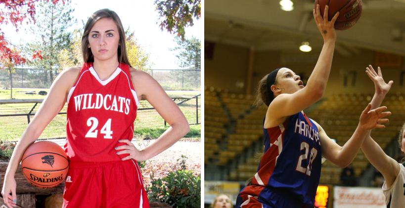 Emilee Ebert (left) and Macy Doebele showed why the Twin Valley League is one of the toughest in the state with their standout performances at Saturday's KBCA All-Star game. (File Photos)