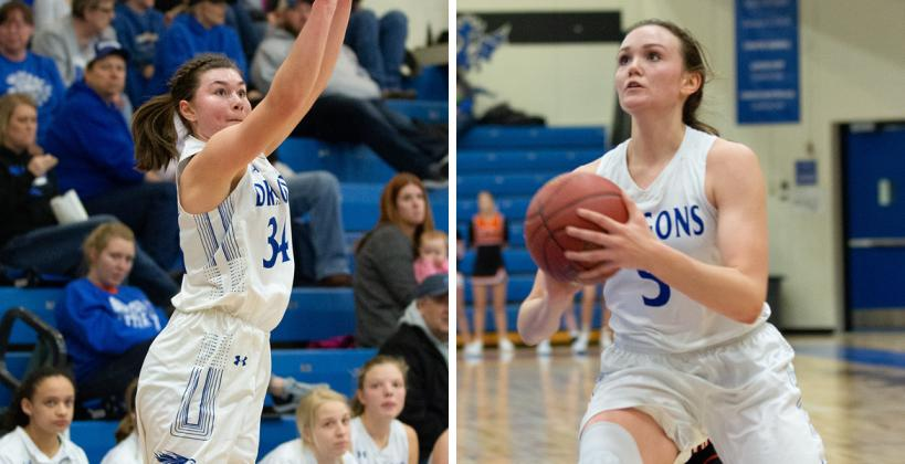 Madi McClain (left) and Karenna Gerber are two of five returning junior starters for Halstead, one of the favorites in a loaded CKL girl's division. (Photos courtesy Halstead Yearbook)