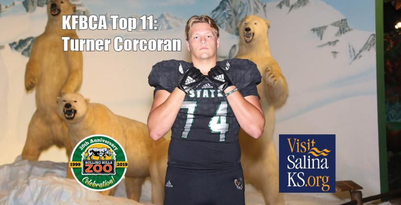 Turner Corcoran, OL, Lawrence Free State (Photo by Everett Royer, KSportsImages.com)