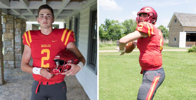 Labette County quarterback Easton Dean, a 2018 coverboy, signed with Iowa State during the Early Signing Period and is already on campus for the Cyclones. (Photos by Derek Livingston)