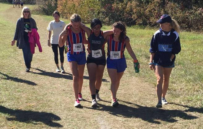 """Maddy Amsink and Julie Bachard, members of the Cheney High School cross country team, have been selected to receive the KSHSAA """"Spirit of Sport"""" award for their selfless act at the regional meet in 2018. (Photo courtesy CHS Athletics)"""