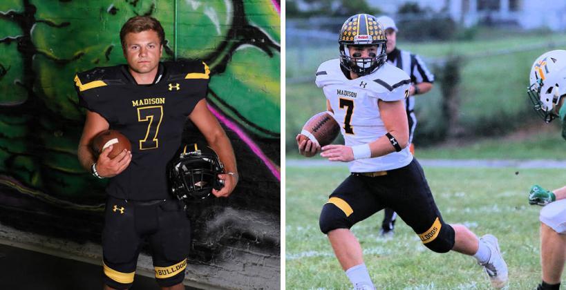 8-Man I Top 8: Hunter Engle (Photos: L-Bree McReynolds-Baetz; R-Gordon Smith)