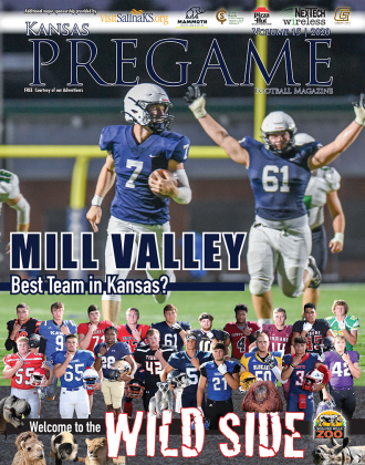 In spite of a narrow loss to Arkansas power Bentonville last week Mill Valley still looks like the most complete team in all of Kansas football. A highly anticipated game with Lawrence was cancelled due to a positive COVID test by a Chesty Lion, but the Jags were able to schedule a game with another top 6A program, Gardner-Edgerton, tonight at 7 p.m. (Photo by Lori Wood Habiger)