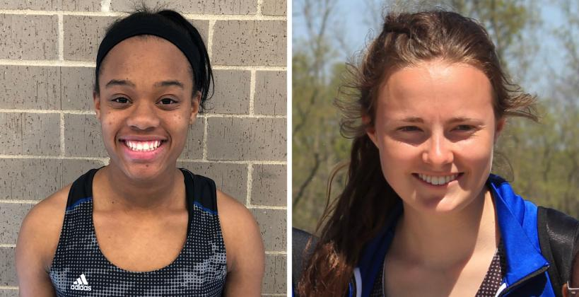 Olathe Northwest seniors Jaleesa McWashington (left) and Maddi Righter are two of 6A's best jumpers. (Courtesy Photos)