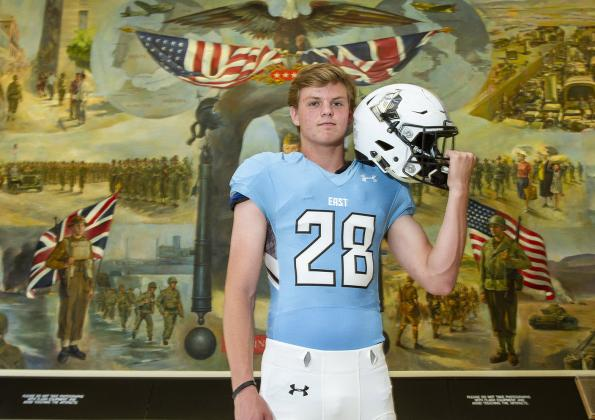 """Shawnee Mission East kicker Parker Willis, part of our """"Specialists"""" feature, will accept a Preferred Walk-On offer from the University of Missouri. (Photo by Joey Bahr)"""
