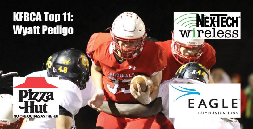 KFBCA Top 11: Wyatt Pedigo, brought to you by Eagle Communications, Nex-Tech Wireless and Pizza Hut. (Photo by Joey Bahr)