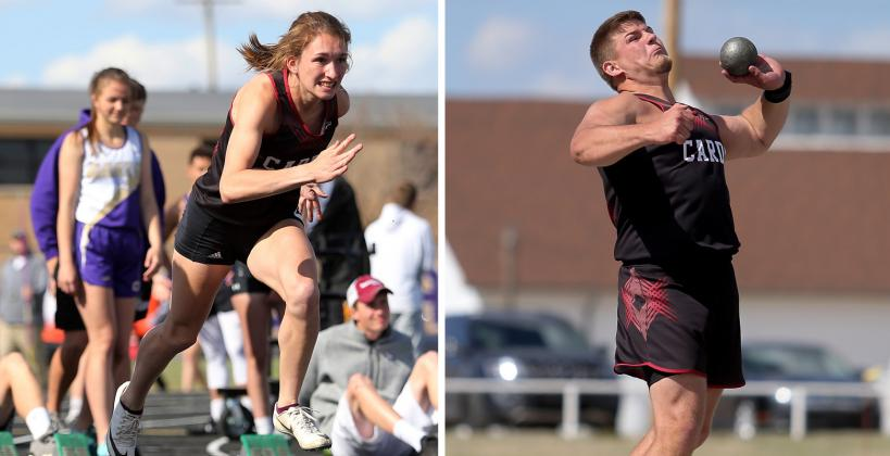 Plainville juniors Aubree Dewey and Jared Casey headline the Plainville track and field team and the duo will go down as two of the top athletes in Plainville High School history. (Photos by Everett Royer, KSportsImages.com)