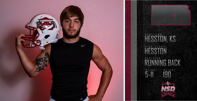 "Hesston's Parker Roth, part of the 2018 ""Weighting Game"" feature, signed with Southern Nazarene in Oklahoma. (Photo by Joey Bahr, edit from Southern Nazarene)"