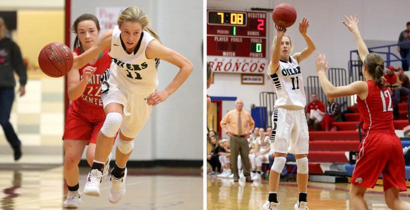 Central Plains junior Emily Ryan, one of the state's top basketball players, nearly broke the state single game steals record in a win over Macksville. (Photos by Everett Royer, KSportsImages.com)