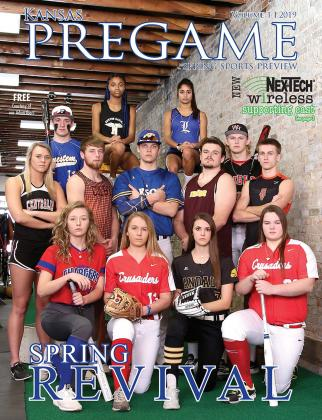 "In early March, 13 of the state's top spring sports athletes gathered at the new Sharp Performance gym in downtown Salina to take part in the cover shoot for this all new magazine. Each athlete is profiled inside the magazine as part of the ""Spring Revival"" feature. (Photo by Everett Royer)"