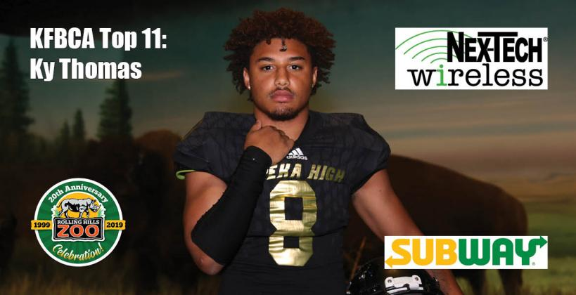 KFBCA Top 11: Ky Thomas, brought to you by Nex-Tech Wireless, Rolling Hills Zoo and Subway. (Photo by Everett Royer, KSportsImages.com)