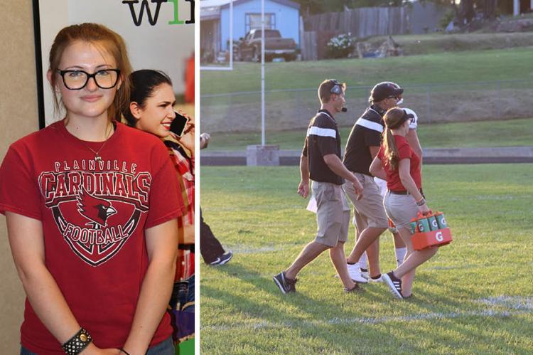 Plainville senior Heidi Jones reflects on the loss of her senior year in this column for Kansas Pregame. (Left photo: John Baetz; Right photo: Kaiden Van Schuyver)