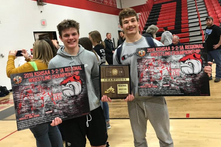 Riley County seniors Luke Richard (left) and Mikey Waggoner enter the state tournament a combined 70-0. (Courtesy Photo)