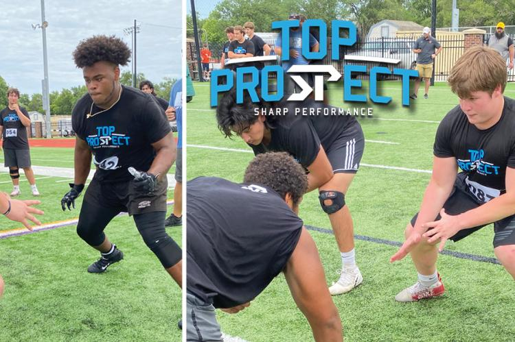The offensive line group presented possibly the best group of players in attendance at Monday's Sharp Performance Top Prospect event in Salina. (Photos by Josh Warner)