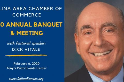 Dick Vitale will be in Salina on Feb. 6 as the key speaker at the Salina Area Chamber of Commerce Annual Banquet. (Photo courtesy Salina Area Chamber of Commerce)