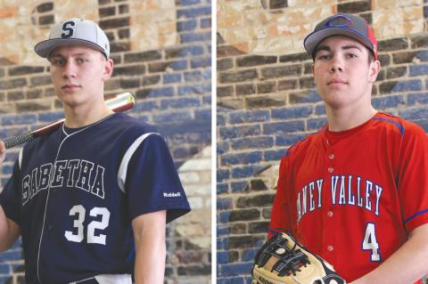 Sabetha junior Gabe Garber (left) is looking to lead his team back to the state tournament. Caney Valley junior Jace Kaminska enjoyed an excellent season, but the Bullpups season came to an end with a loss to Girard 8-0 in the regional opener. (Photos by Everett Royer, KSportsImages.com)