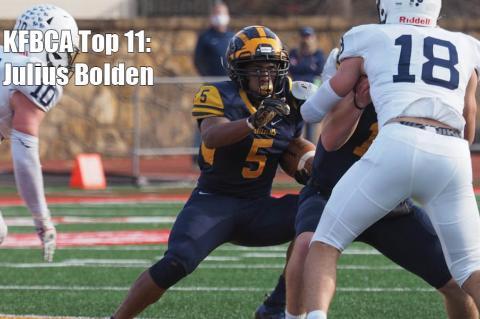 KFBCA Top 11: Wichita Northwest running back Julius Bolden, #5 (Photo courtesy Northwest Grizzly Football)