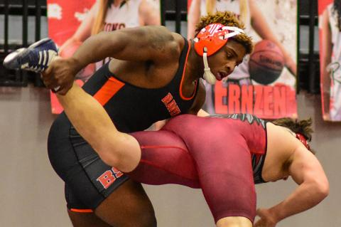 Bonner Springs senior Caleb Willis is one of the top ranked wrestlers in Kansas. (Photo by Nick Verbenec, www.nickverbenecphotography.com)