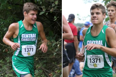 Central Christian junior Collin Oswalt is one of the top cross country runners in the state. (Photo by Huey Counts)