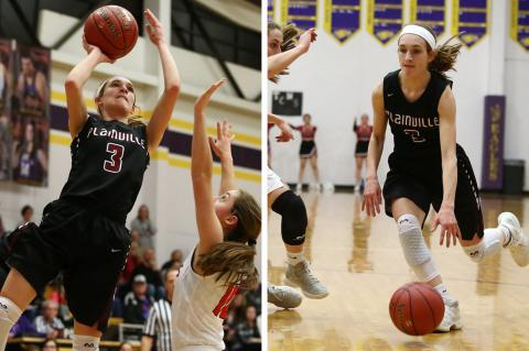 Plainville junior Aubree Dewey has averaged at least 16 points per game in each of her first three seasons of high school basketball. (Photos by Everett Royer, KSportsImages.com)
