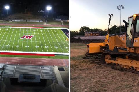 Jeff West and Girard are just two of many fields resurfaced by Kansas Turf (Photos courtesy Kansas Turf)