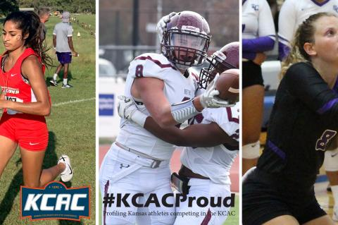 Aubry Donley, Tanner Galliart and Hanna White are just three of the Kansas natives excelling in the KCAC. (Photos courtesy the KCAC)