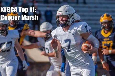 KFBCA Top 11: Mill Valley quarterback Cooper Marsh, #7 (Photo by Lori Wood Habiger)