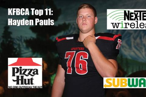 KFBCA Top 11: Hayden Pauls, brought to you by Nex-Tech Wireless, Pizza Hut and Subway. (Photo by Everett Royer, KSportsImages.com)