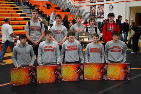 Marysville is sending 10 wrestlers to state including five regional champions. (Photo courtesy MHS Bulldog Boosters)