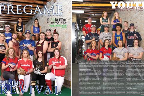 "Distribution of the 2019 Spring Edition, which includes the ""Spring Revival"" cover features and the ""Youth Movement"" underclassmen features, is now complete. Pick up a free copy at dozens of sponsor locations across Kansas. (Photos by Everett Royer, KSportsImages.com)"