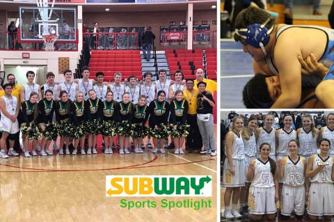 Bishop Carroll boys, Sylvan-Lucas/Lincoln junior Tra Barrientes and Trego Golden Eagles girls. (Photos: BCCHS Athletics, Becky Rathbun/Lincoln Sentinel-Republican, Mandie Kinderknecht)