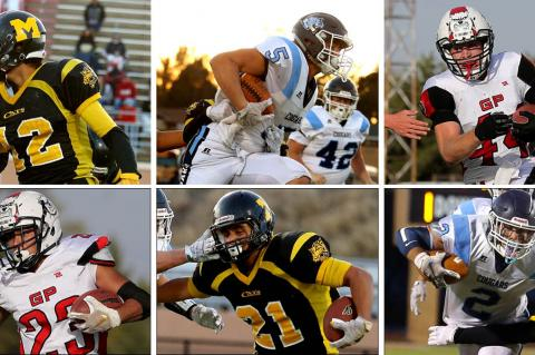 Kansas Pregame's first ever Top 6 team of seniors, as voted on by coaches (pictured in no particular order) are, clockwise from top left: Adan Granillo, Colton McCarty, Wade Rush, Drew Schields, Gerardo Garcia and Rojelio Loya. (Photos: Everett Royer, KSportsImages.com)