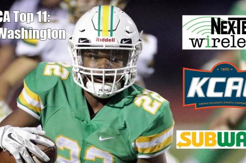KFBCA Top 11: Tre Washington, brought to you by the KCAC, Nex-Tech Wireless and Subway. (Photo by Walter Dixon, Derby Informer)