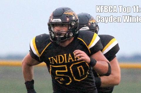 KFBCA Top 11: Andale lineman Cayden Winter, #50 (Photo by Lance Reid)