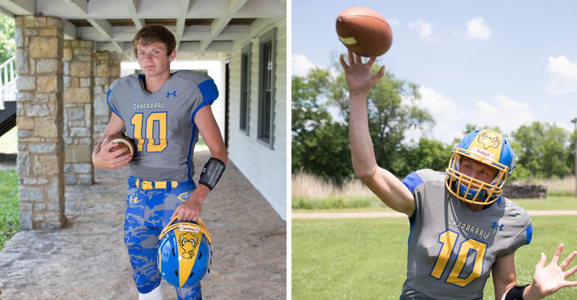 Chaparral QB and safety Jake Burke, Roadrunner head coach Justin Burke's son, was one of the top players in class 2A this season. He plans to play collegiately at Pittsburg State. (Photos by Derek Livingston)
