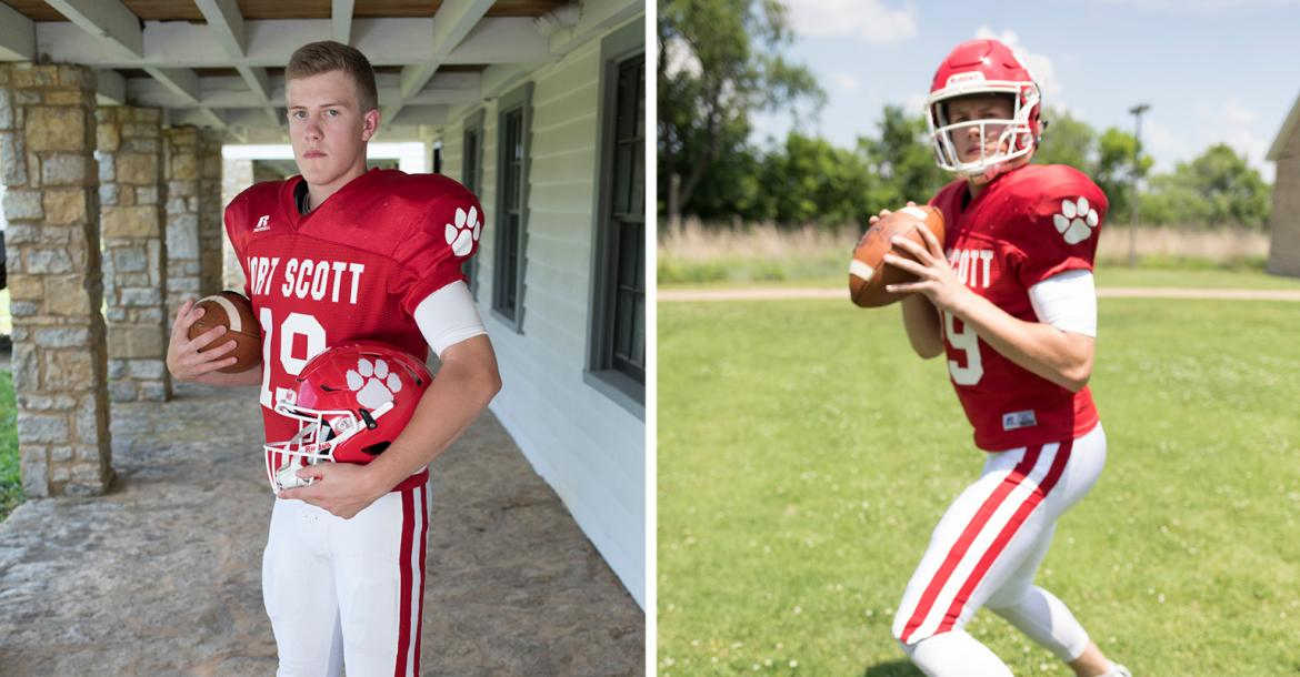 Matt Campbell played quarterback during his senior year in his father's final season as head coach at Fort Scott. (Photos by Derek Livingston)