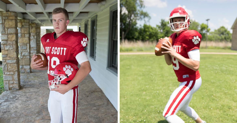 Fort Scott QB Matt Campbell, a 2018 coverboy, will play baseball at Fort Scott Community College. (Photos by Derek Livingston)