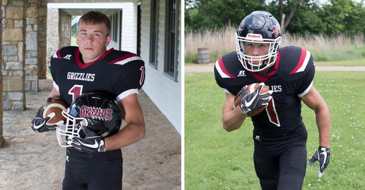 Rock Hills senior Zane Colson enjoyed a brilliant career as a running back for the Grizzlies and he is also one of the top wrestlers in 3-2-1A. (Photos by Derek Livingston)
