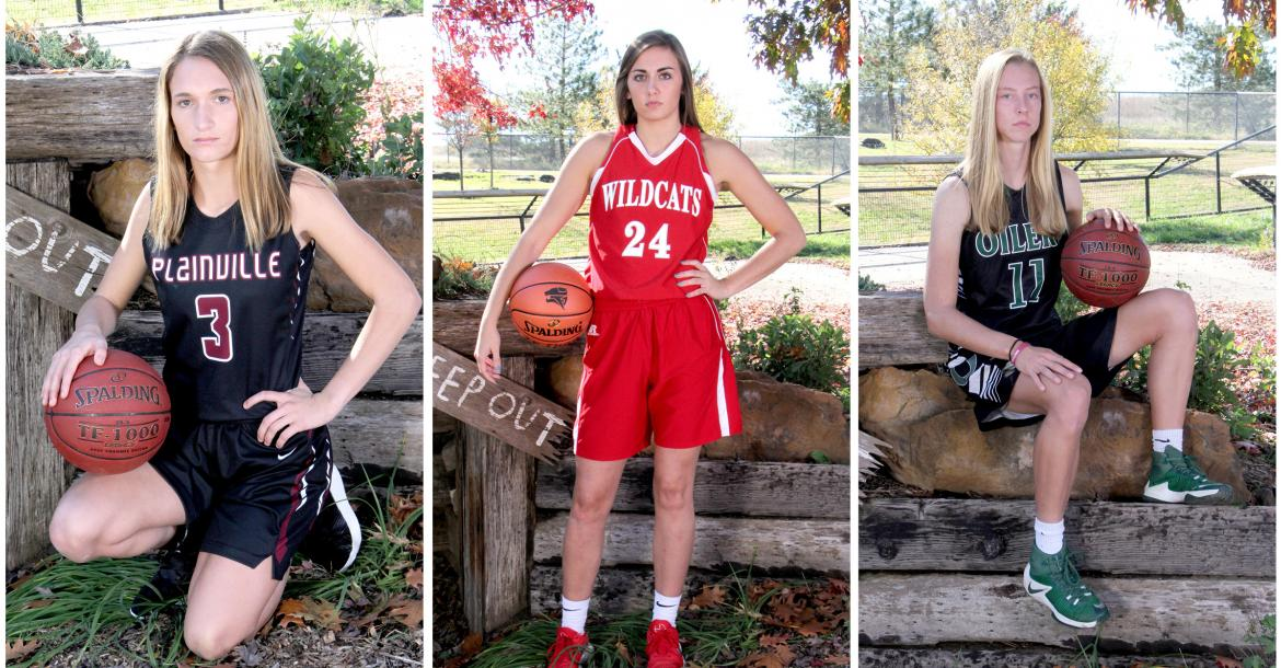 Pictured, left-to-right: Aubree Dewey, Plainville; Emilee Ebert, Frankfort; Emily Ryan, Central Plains (Photos by Bree McReynolds)