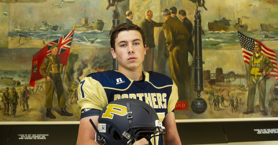 """Phillipsburg kicker Jonathan Hunnacutt, one of our """"Specialists"""" in last year's Football Preview, signed with Fort Hays State University. (Photo by Joey Bahr)"""