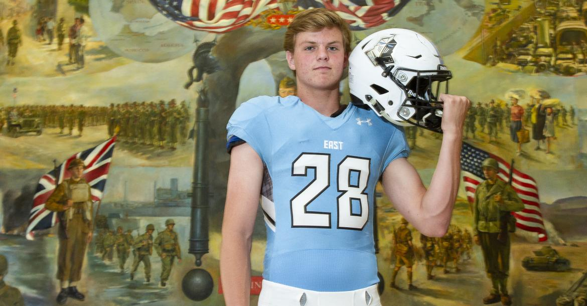 "Shawnee Mission East kicker Parker Willis, part of our ""Specialists"" feature, will accept a Preferred Walk-On offer from the University of Missouri. (Photo by Joey Bahr)"