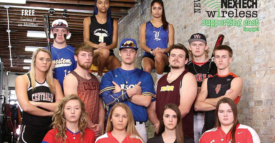 Check out the athletes on the cover of the new Spring Sports Preview. (Photo by Everett Royer)