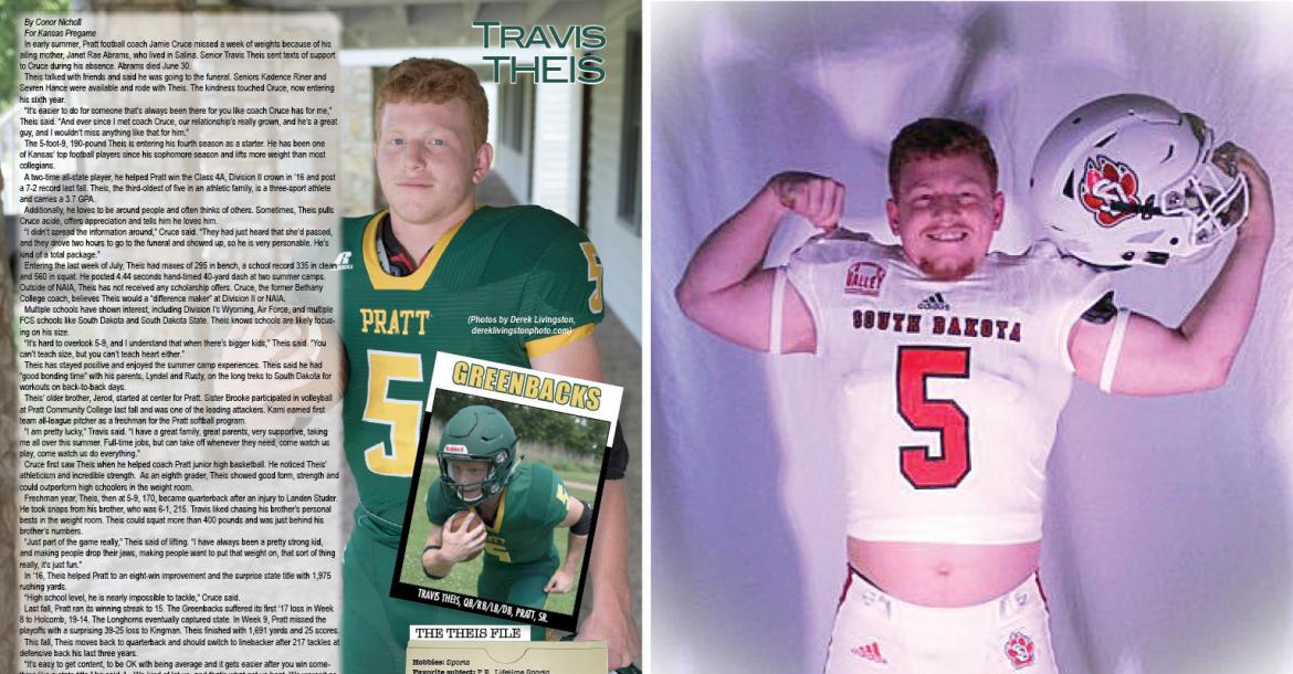 Pratt running back Travis Theis made his commitment to the University of South Dakota official February 6th. (File Photos)