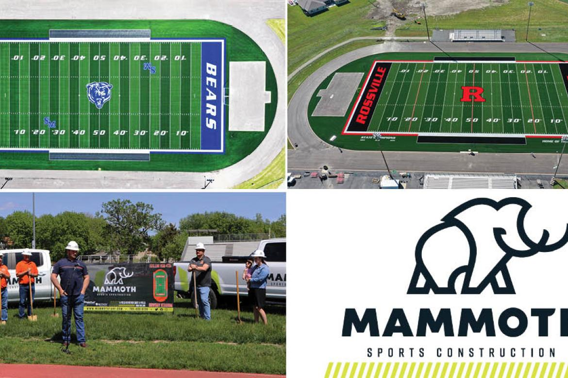 Mammoth Sports Construction, based in Meriden, Kan., continues to expand statewide and across the Midwest.